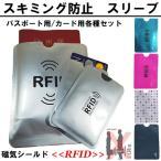 スキミング防止 パスポート用スリーブ 2枚 磁気シールド セキュリティー RFID トラベルグッズ