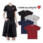 コムデギャルソン プレイ COMME des GARCONS PLAY レディース トップス ダブルハート 半袖 Tシャツ DOUBLE HEART LOGO TSHIRT