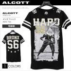 ALCOTT アルコット Tシャツ メンズ 半袖 TEE ロング丈 キャラクター LOONEY TUNES バスケ TS10181 AC11506 メール便送料無料