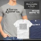 ショッピングAbercrombie アバクロ Tシャツ アバクロンビー&フィッチ Abercrombie&Fitch メッセージ MESSAGE GRAPHIC TEE 半袖 AM11151SL メール便送料無料