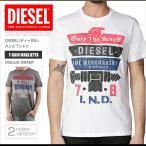 ショッピングプリント ディーゼル DIESEL Tシャツ メンズ 半袖 Tee 00SJUS 0WAER T-RAIN MAGLIETTA プリント ロゴ DS41226SL メール便送料無料