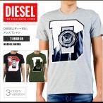 ショッピングプリント ディーゼル DIESEL Tシャツ メンズ 半袖 Tee 00SS3L 0091B T-DIEGO GR グラフィック DS41233SL メール便送料無料
