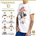 ハピネステン HAPPINESS IS A $10 Tee ハピネス10 Tシャツ 半袖 ホワイト ロゴ HP10001SL メール便送料無料