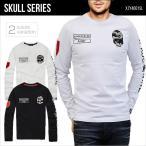 ロングTシャツ 長袖 メンズ Tシャツ スカル ドクロ ゴルフウェア イタリア アーミー SKULL XZY4001SL