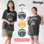 トップス Tシャツ 半袖 イラストプリント ロゴ 綿 コットン ゆったり おしゃれ レディース 夏 SALE セール Honeys ハニーズ スヌーピーTシャツ