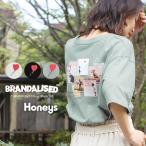 トップス Tシャツ 半袖 バックフォト ワンポイント ゆったり おしゃれ レディース 春 夏 Honeys ハニーズ プリントT(バンクシー)