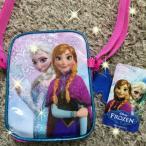 ディズニープリンセス アナと雪の女王 ミニ スクエア スリング バッグ  ブルー