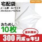 宅配袋 宅配ビニール袋 メール便袋 A4 A5 梱包資材 ビニール袋 袋 資材 梱包材 おためし 10枚入り 梱包袋 25×32cm