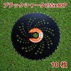 草刈機 刈払機 刃 草刈機用チップソー255 ブラック 10枚 替刃 替え刃 人気