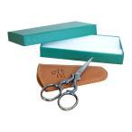 Premax イタリア製 刺繍鋏 アラベスク ハート 専用革ケース 箱付 プレマックス