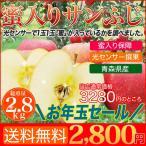 店長激オシ送料無料!全てのりんごに蜜が入っている青森県産 蜜入りサンふじ 10〜11玉