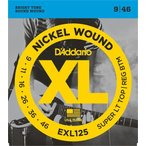 D'Addario EXL125 Nickel Wound, Super Light Top/ Regular Bottom, 09-46 《エレキギター弦》 ダダリオ  【ネコポス】