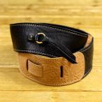 ショッピングストラップ Paul Reed Smith ポールリードスミス ACC-3162 BLK Tooled Leather Contrast Stitch Strap Black ギターストラップ