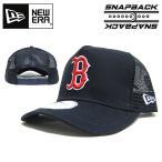 ニューエラ メッシュキャップ レッドソックス NEW ERA D-FRAME TRUCKER MESH CAP B BOSTON REDSOX ニューエラー ダンス 衣装 帽子