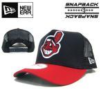 ニューエラ メッシュキャップ インディアンス NEW ERA D-FRAME TRUCKER MESH CAP Cleveland Indians ダンス 衣装 帽子 親子
