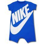 ベビー ナイキ ロンパース Nike Futura Rompers ベビー服 赤ちゃん オリオンブルー白  BY173