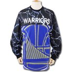 NB040 NBA Golden State Warriors ゴールデンステート・ウォリアーズ ロングTシャツ 黒青白