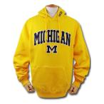 NO501 NCAA ミシガン大学 ウルヴァリンズ カレッジ パーカー 黄色紺