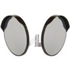 ショッピングミラー カーブミラー 丸型600φ 2面鏡 アクリル製 道路反射鏡  日本製 2面用金具付き ブラウン色 HPLA-丸600W茶