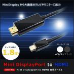 MINI DISPLAY PORT-HDMI変換ケーブル 1080P フルHD THUNDERBOLT/MINI DISPLAY PORT搭載のMAC/PCから大画面テレビに MINIDP-HDMI HOP-MINIDP2HDMI