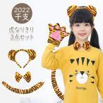 虎 なりきり 3点セット ベビー キッズ 子ども ハロウィン 寅 とら トラ タイガー 2022年 干支 寅年 カチューシャ 蝶ネクタイ 衣装 メール便送料無料