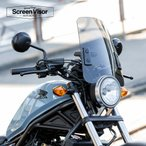 6ヶ月保証付 XL883L スポーツスターロー スクリーンバイザー メーターバイザー 中型タイプ スモークスクリーン 風防 汎用 aiNET製