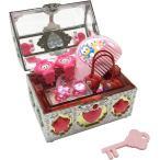 音が鳴る キラキラ ジュエリー ボックス 鍵付き おもちゃ 光る 宝石箱 イヤリング ヘアゴム 指輪 ヘアくし かわいい 女の子(1個)