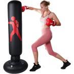 サンドバッグ 自宅用 空気式 エクササイズ ストレス解消 パンチ ボクシング(A)