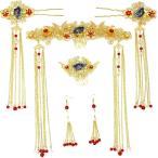 アジアンテイスト 髪飾りセット 中国風 宮廷 古代 ヘアアクセサリー チャイナ コスプレ
