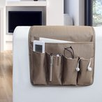 ソファーサイドストレージバッグ 収納バッグ リモコンバッグ サイドバッグ 携帯電話収納バッグ 椅子 ベッド 雑物 便利 MDM(カーキ)