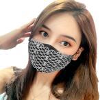マスクアクセサリー ラインストーン マスクカバー マスクの上からおしゃれ キャバ嬢 コスプレ 仮装 タイプB(タイプB)