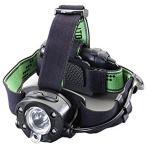 ショッピングエスコ エスコ 単3x3本 ヘッドライト/LED 白・青・赤・緑光 EA758RX-1 [ブラック/グリーン][71(W)×40(D)×48(H)mm] /