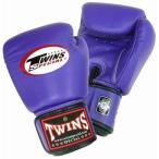 Twins ボクシンググローブ 本革製 8オンス(パープル, 8oz)