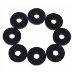 ショッピングストラップ ammoon 4対(8枚) ベースギター ストラップ ラバー製 ロック ブロック 4色選択可能 [ブラック] / OEH3213710158453NP