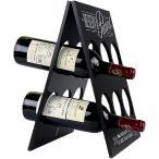 W23 折りたたみ式 ワインラック 木製 アンティーク ホルダー シャンパン ボトル 6本 収納 ケース インテリア(6本収納)