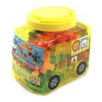 ニューブロック ようちえんバスボトル 83108 2歳から 黄色の幼稚園バス型ケース入り