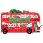 アドベントカレンダー 立体サンタ2階建てバス ADV260立てて飾れます Caspari/アームカンパニー