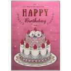 バースデーカード ライト付ミュージックカード ケーキ B88-156 学研ステイフル 曲に合わせてキャンドルが光る二つ折り誕生日カード