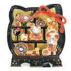 クリスマスカード 和風・海外向け サンリオ P7005 (SX-01) キティ 丸棚 和小物 立体カード 多用途 Christmas card グリー