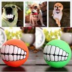 ペット 噛む 玩具 犬 ボール 歯 おもちゃ カラフル 歯固め 歯のボール 音がする【定形外送料無料】