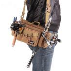 多機能釣り ウエスト バッグ ショルダー ルアーバッグ 釣り ロッド リール タックルバッグ