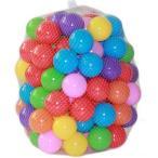 カラーボール おもちゃボール 7色 100個入り 直径5.5cm ソフト プラスチック オーシャンボール (プール/ボールプール/ボールハウス用)