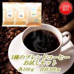 ショッピングお試しセット ブレンドコーヒー 3種 お試しセット 各100g計300g 送料無料