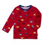 ホットビスケッツ ミキハウス クルマ総柄赤Tシャツ アウトレット 赤 70 80 90 100 110 HOT BISCUITS