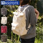 ROOTOTE ルートート Backpack バックパック SC-A リュック バッグ 2WAY トート 手持ち おでかけ 通学 通勤 旅行 シンプル マチ広 ロールトップ ルーポケット