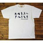 トライアスロン柄 メンズTシャツ 白 ネイビー