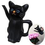 ねこのじょうろ クロ 園芸 ガーデニング 水やり ジョウロ W230mm×D125mm×H255mm 黒猫 明邦/MEIHO ME85