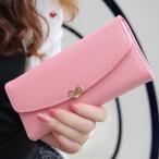 【数量限定】長財布 レディース ハート がま口財布 ロングウォレット 大容量 かわいい 高級 PU レザー 使いやすい