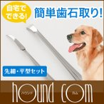 犬 デンタル 愛犬 猫 用スケラー 先細&平型セット