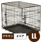 犬 ゲージ 折り畳みできるペットケージ 2ドアタイプ LLサイズ ドッグサークル